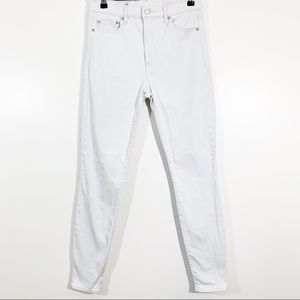 Gap 8 29r True Skinny High Rise Jeans Powder Gray